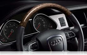 audi steering wheel with wood